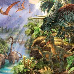 Пазл онлайн: Доисторический мир