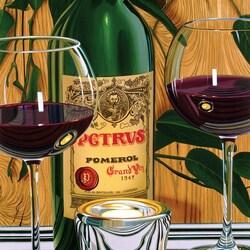 Пазл онлайн: Вино и бокалы