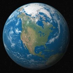 Пазл онлайн: Голубая планета