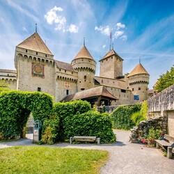 Пазл онлайн: Замок Шильйон