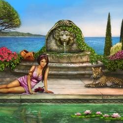 Пазл онлайн: Римский сад