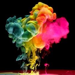 Пазл онлайн: Цветной дым
