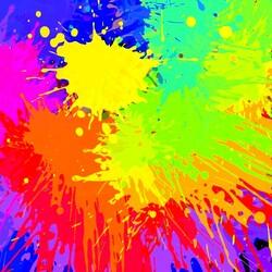 Пазл онлайн: Цветные кляксы