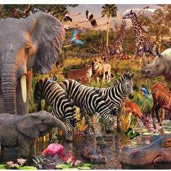 Пазл онлайн: Животные Африки
