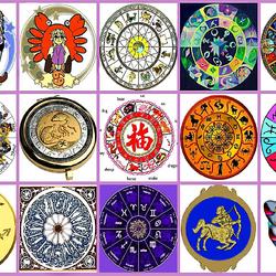 Пазл онлайн: Коллаж - гороскоп