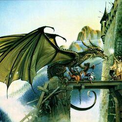 Пазл онлайн: Нападение дракона