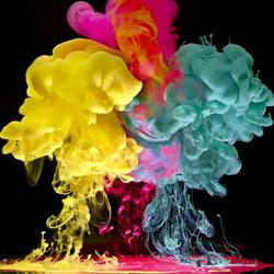 Пазл онлайн: Облака красок
