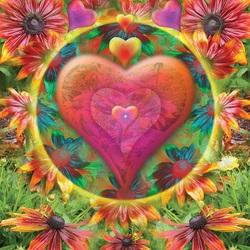Пазл онлайн: Сердце цветка