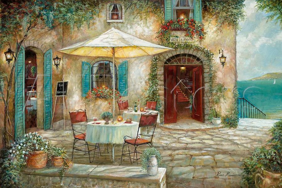гирлянда картинки кафе дворик вам