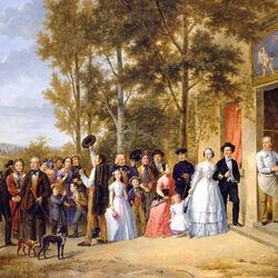 Пазл онлайн: Свадьба во французской деревне