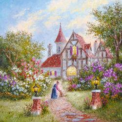 Пазл онлайн: Сад у дома