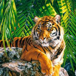 Пазл онлайн: Тигр Суматры