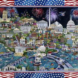 Пазл онлайн: Фейерверк над Вашингтоном