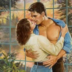 Пазл онлайн: Поцелуй у окна