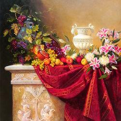 Пазл онлайн: Натюрморт с вазой