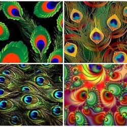 Пазл онлайн: Павлиньи перья