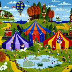 Пазл онлайн: Цирк приехал!