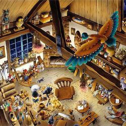 Пазл онлайн: Мастерская деревянных игрушек