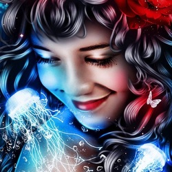 Пазл онлайн: Мечтающая девушка