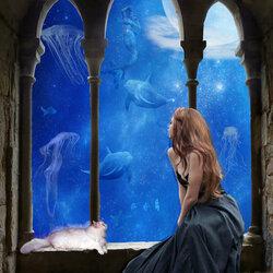 Пазл онлайн: Подводный замок