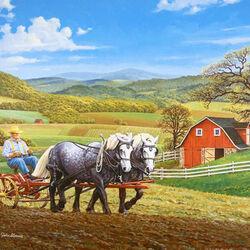 Пазл онлайн: Весной в поле