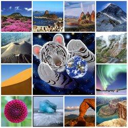 Пазл онлайн: Природные чудеса Земли