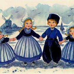 Пазл онлайн: Голландские винтажные открытки