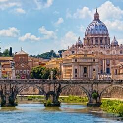 Пазл онлайн: Мост Святого Ангела