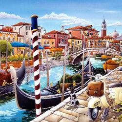Пазл онлайн: Венецианская лагуна в Италии