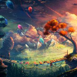 Пазл онлайн: Воздушные шарики