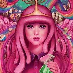 Пазл онлайн: Принцесса Бубльгум