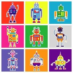 Пазл онлайн: Роботы