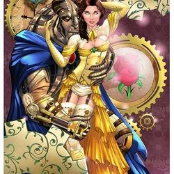 Пазл онлайн: Стимпанк Красавица и Чудовище