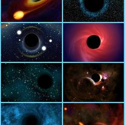 Пазл онлайн: Чёрные дыры