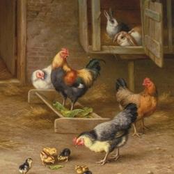 Пазл онлайн: На птичьем дворе