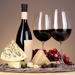 Пазл онлайн: Сыр и вино