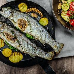 Пазл онлайн: Жареная рыбка
