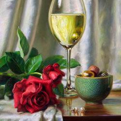 Пазл онлайн: Вино и розы