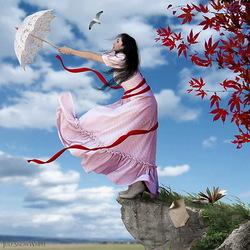 Пазл онлайн: Осенний ветер