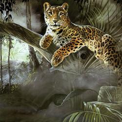 Пазл онлайн: В джунглях