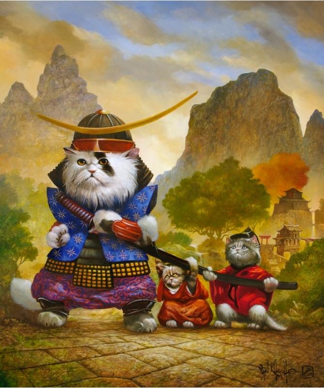 Классные картинки кота самурая, теряй
