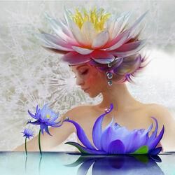 Пазл онлайн: Водяная лилия