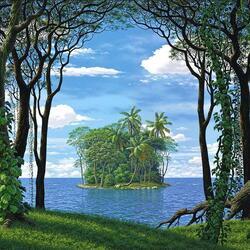 Пазл онлайн: Островок