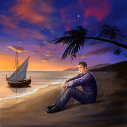Пазл онлайн: Малкольм на пляже