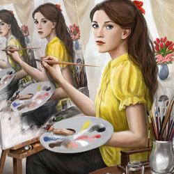 Пазл онлайн: Автопортрет