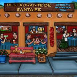 Пазл онлайн: Ресторанчик в Санта-Фе