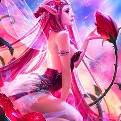 Пазл онлайн: Принцесса роз