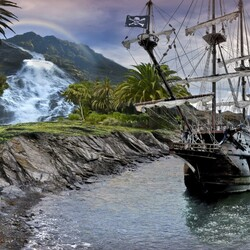 Пазл онлайн: Пиратский остров
