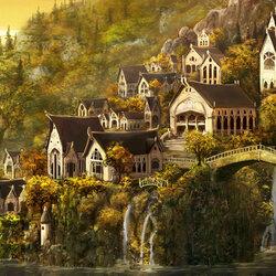 Пазл онлайн: Наркелион, город вечной осени