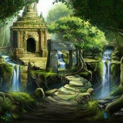 Пазл онлайн: Руины в джунглях